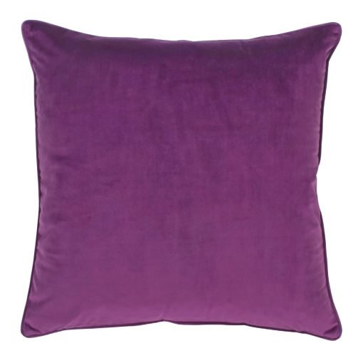 Large 55x55cm monotone purple velvet outdoor cushion