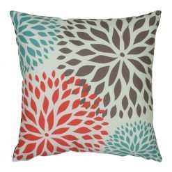 45x45cm simple floral velvet cushion cover