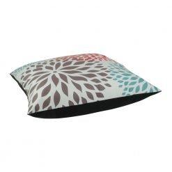 70x70cm modern floral print velvet cushion