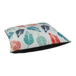 70x70cm velvet cushion cover with leaves design