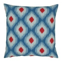 Blue white and red outdoor cushion cover