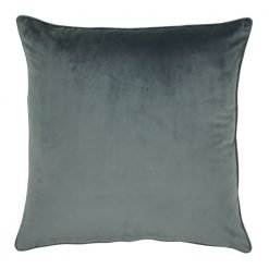 Large 55x55cm monotone grey velvet outdoor cushion