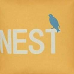 Closeup Image Square Sparrows Nest Cushion Cover 45x45cm