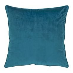 Large 55x55cm monotone teal velvet outdoor cushion