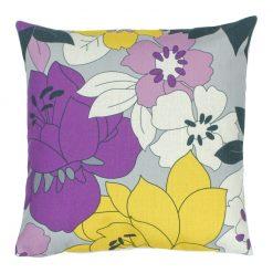 Floral Violet Square Cushion Cover 45x45cm