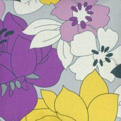 Closeup Image Floral Violet Square Cushion Cover 45x45cm