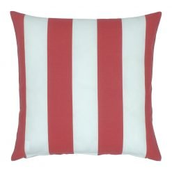 45x45cm outdoor cushion with red stripes
