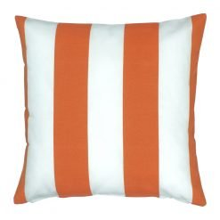 Rust stripped 45x45cm outdoor cushion cover