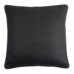 Image of polyester dark grey cushion cover