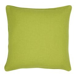 Photo of square lime cushion cover in lime colour