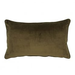 Rectangular brown velvet cushion cover