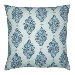 Photo of blue and white outdoor cushion cover