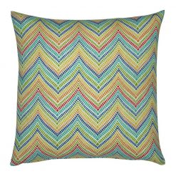 Colourful outdoor cushion cover in chevron pattern