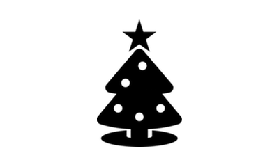 Graphic of Christmas tree