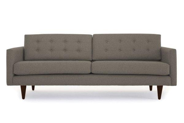 Empty brown sofa