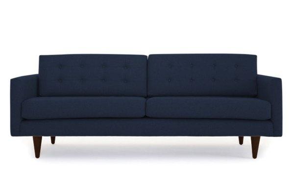 Dark navy empty sofa