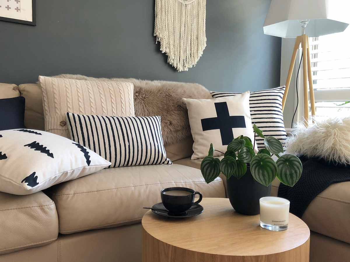 Scandinavian styled room with Scandi patterns