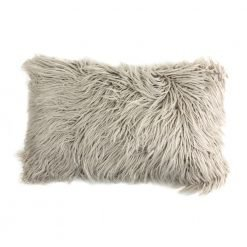 Photo of ecru rectangular fur cushion in 30cm x 50cm size
