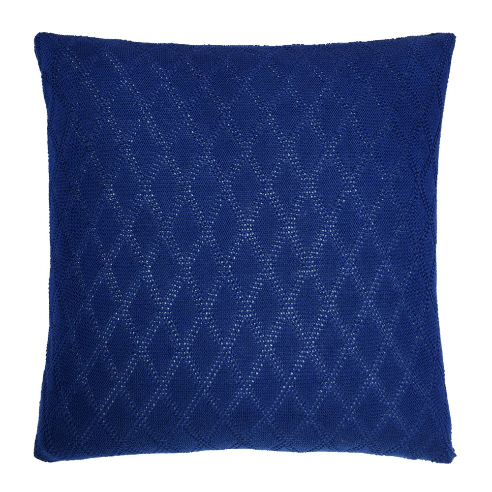 Buy Navy Chunky Knit Cushion Cover Online Simply Cushions